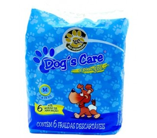 Dogs Care Fralda Absorvente Femea Tam.m 6 Unt Dog Care