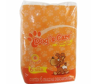 Dogs Care Fralda Absorvente Femea Tam.g 6 Unt Dog Care