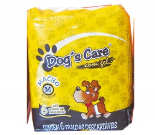 Dogs Care Fralda Absorvente Macho Tam.m 6 Unt Dog Care