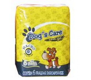 Dogs Care Fralda Absorvente Macho Tam.g 6 Unt Dog Care