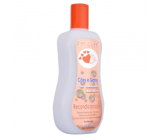 Recondicionador com aloe vera p/ caes e gatos 500ml Pet Life