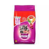 Ração Whiskas Carne E Leite Para Gatos Filhotes 1 Kg