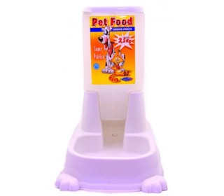 COMEDOURO AUT.PET FOOD 2,5KG REF.824 BRANCO PLAST PET