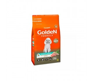 RAÇÃO GOLDEN ADULTO FRANGO & ARROZ MINI BITS 1KG PREMIER