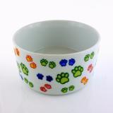 Comedouro Porcelana Decorado Grd Color  Kakatoo - Aquapet