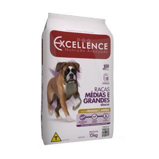 Ração Dog Excellence Senior Raça Grande Frango/Arroz 15kg