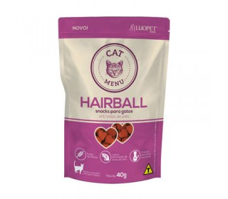 Petisco Cat Menu Hairball 40g